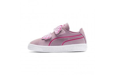 Puma Suede Deconstruct Butterfly Sneakers INFPale Pink-Fuchsia Purple Sales