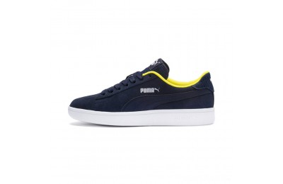 Puma PUMA Smash v2 Denim Sneakers JRPeacoat- W-Blazing Yello Sales
