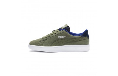 Puma PUMA Smash v2 Denim Sneakers JROlivine-Surf The Web Sales
