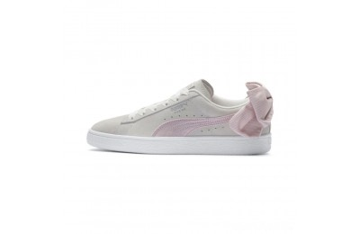 Puma Suede Bow Hexamesh Women's Sneakers Marshmallow-Pale Pink Sales