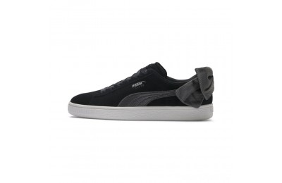 Puma Suede Bow Hexamesh Women's Sneakers Black-Dark Shadow Sales