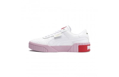Puma Cali Women's Sneakers White-Pale Pink Sales