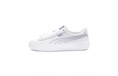 Puma Basket Platform Twilight Women's Sneakers White-Sweet Lavender Sales
