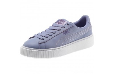 Puma Basket Platform Twilight Women's Sneakers Sweet Lavender- White Sales