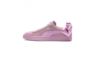 Puma Suede Bow Galaxy Women's Sneakers Pale Pink- Silver Sales