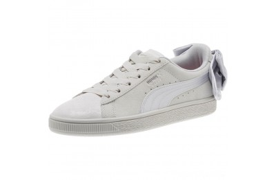 Puma Suede Bow Galaxy Women's Sneakers Gray Violet- Silver Sales