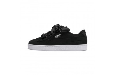 Puma Suede Heart Galaxy Women's Sneakers Black- Silver Sales