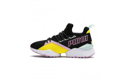 Puma Muse Maia Trailblazer Women's Sneakers Black-Blazing Yellow Sales