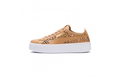 Puma PUMA Vikky Stacked Laser Cut Women's Sneakers Toast-Toast Sales