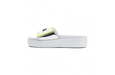 Puma Platform Trailblazer Metallic Women's Slide Sandals White- Silver Sales