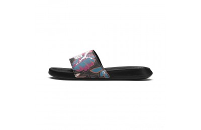 Puma Popcat Flower Power Women's Slide Sandals Black- White Sales