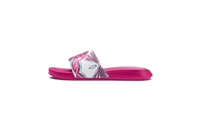Puma Popcat Flower Power Women's Slide Sandals Fuchsia Purple- White Sales