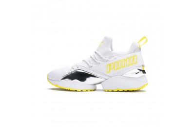 Puma Muse Maia Trailblazer Metallic Women's Sneakers White-Blazing Yellow Sales