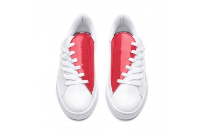 Puma Basket Crush Women's Sneakers White-Hibiscus Sales