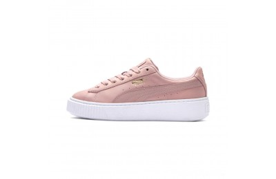 Puma Suede Platform Shimmer Women's Sneakers Bridal Rose- White Sales