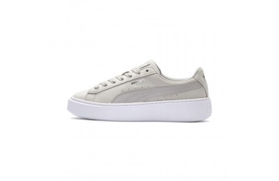 Puma Suede Platform Shimmer Women's Sneakers Gray Violet- White Sales