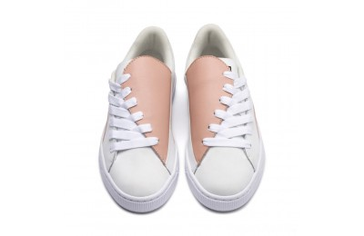 Puma Basket Crush Paris Women's Sneakers Peach Beige- White Sales