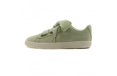 Puma Basket Heart Soft Women's Sneakers Smoke Green-Marshmallow Sales