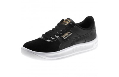 Puma California Monochrome Women's Sneakers Black- Team Gold Sales