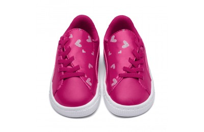 Puma Basket Crush Glitter Hearts AC Sneakers INFFuchsia Purple- White Sales