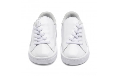 Puma Basket Crush Patent AC Sneakers PS White- White Sales