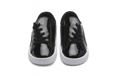 Puma Basket Crush Patent AC Sneakers PS Black- White Sales