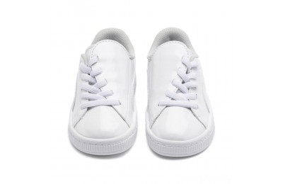 Puma Basket Crush Patent AC Sneakers INF White- White Sales