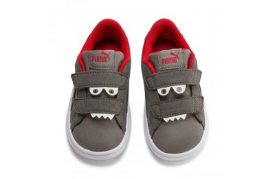 Puma PUMA Smash v2 Monster Sneakers INFAsphalt-C. Gray-Red-White Sales