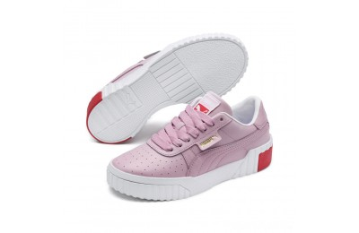 Puma Cali Sneakers PS White-Hibiscus Sales