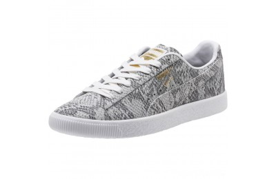 Puma Clyde Reptile Women's Sneakers P Wht-P Blk-Metallic Gold Sales