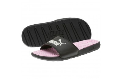 Puma Cool Cat Women's Slides Black- White Sales