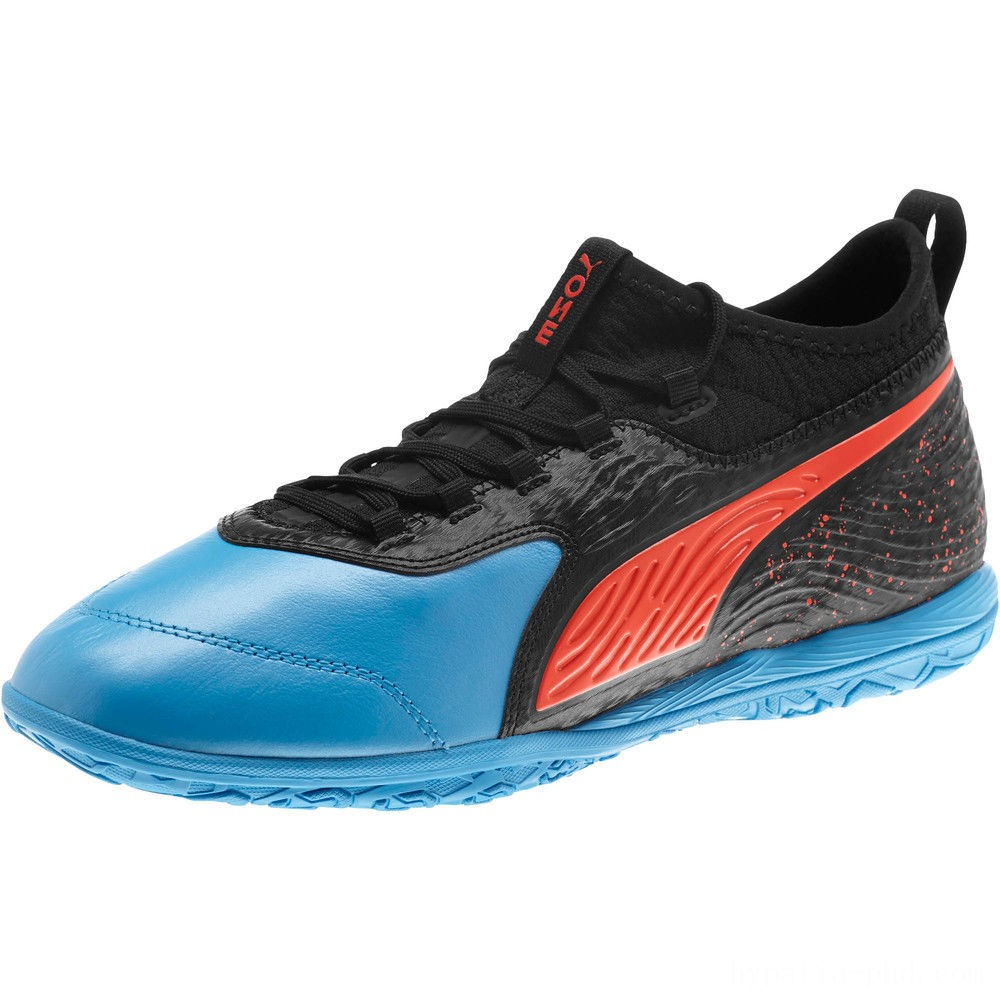 Puma PUMA ONE 19.3 IT Men's Soccer Shoes Bleu Azur-Red Blast-Black Sales