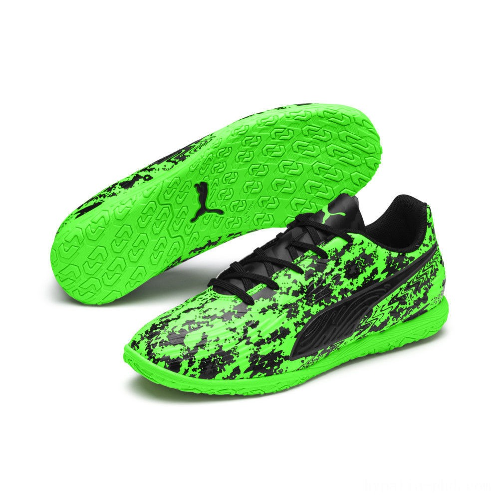 Puma PUMA ONE 19.4 IT Soccer Shoes JRGreen Gecko-Black-Gray Sales