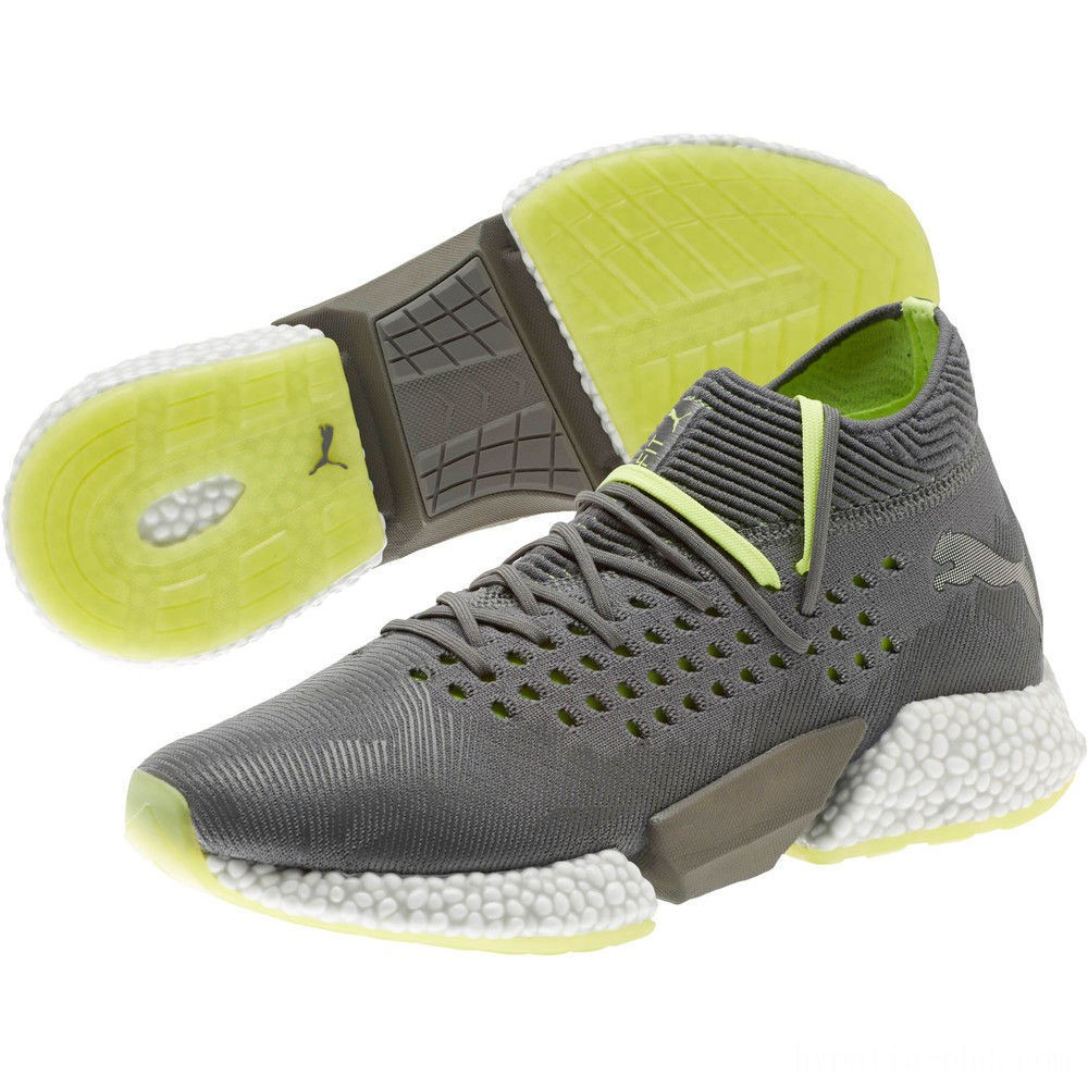 Puma FUTURE Rocket Men's Running Shoes Aged Silver-Gray-Yellow Sales