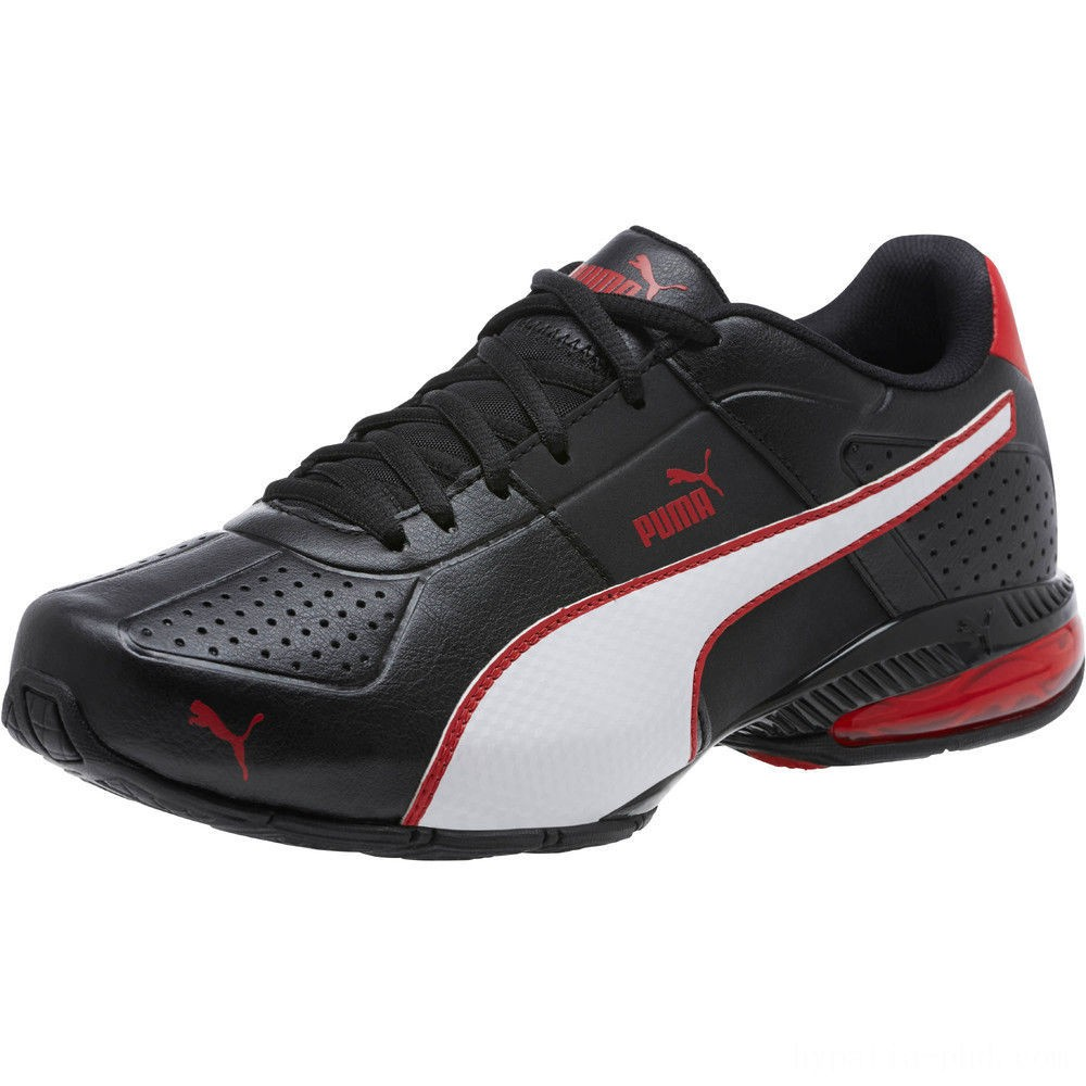 Puma Cell Surin 2 FM Men's Running Shoes Black-White-Ribbon Red Sales