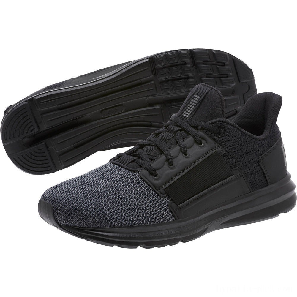 Puma Enzo Street Men's Running Shoes Black-Iron Gate-Aged Silver Sales