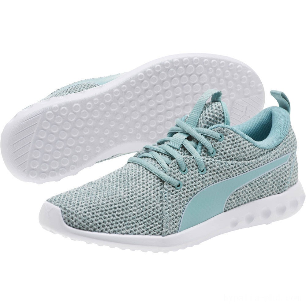 Puma Carson 2 Nature Knit Women's Running Shoes Aquifer-Blue Flower Sales