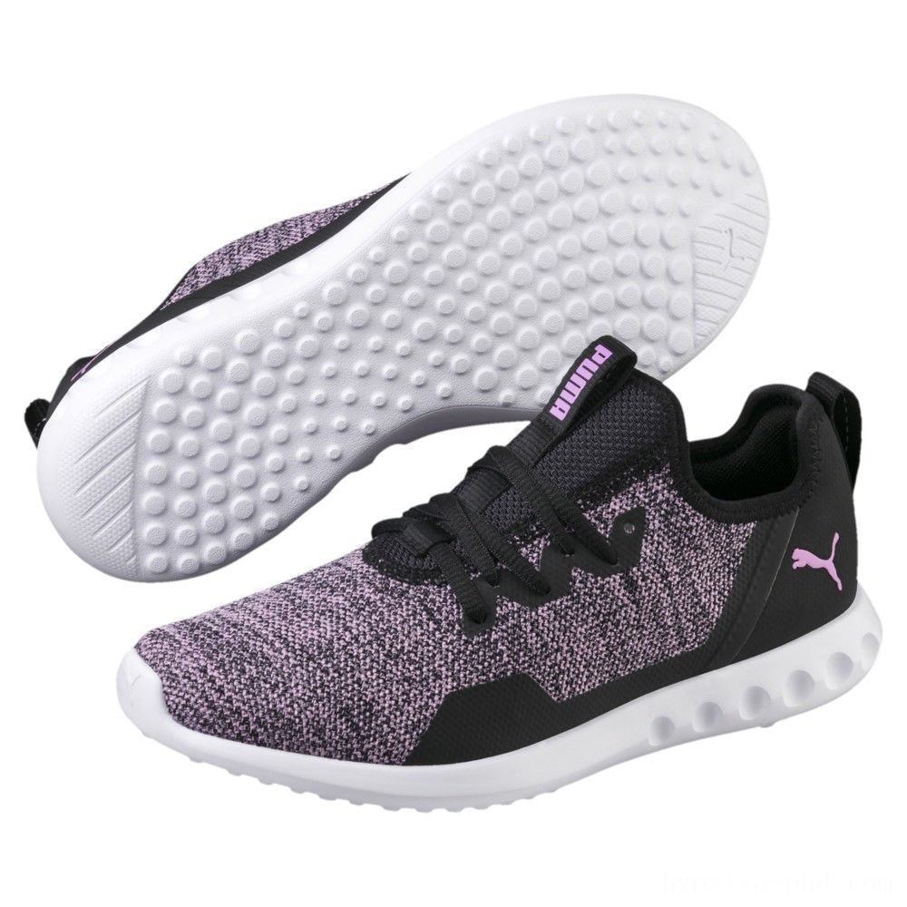 Puma Carson 2 X Knit Women's Running Shoes Black-Orchid Sales