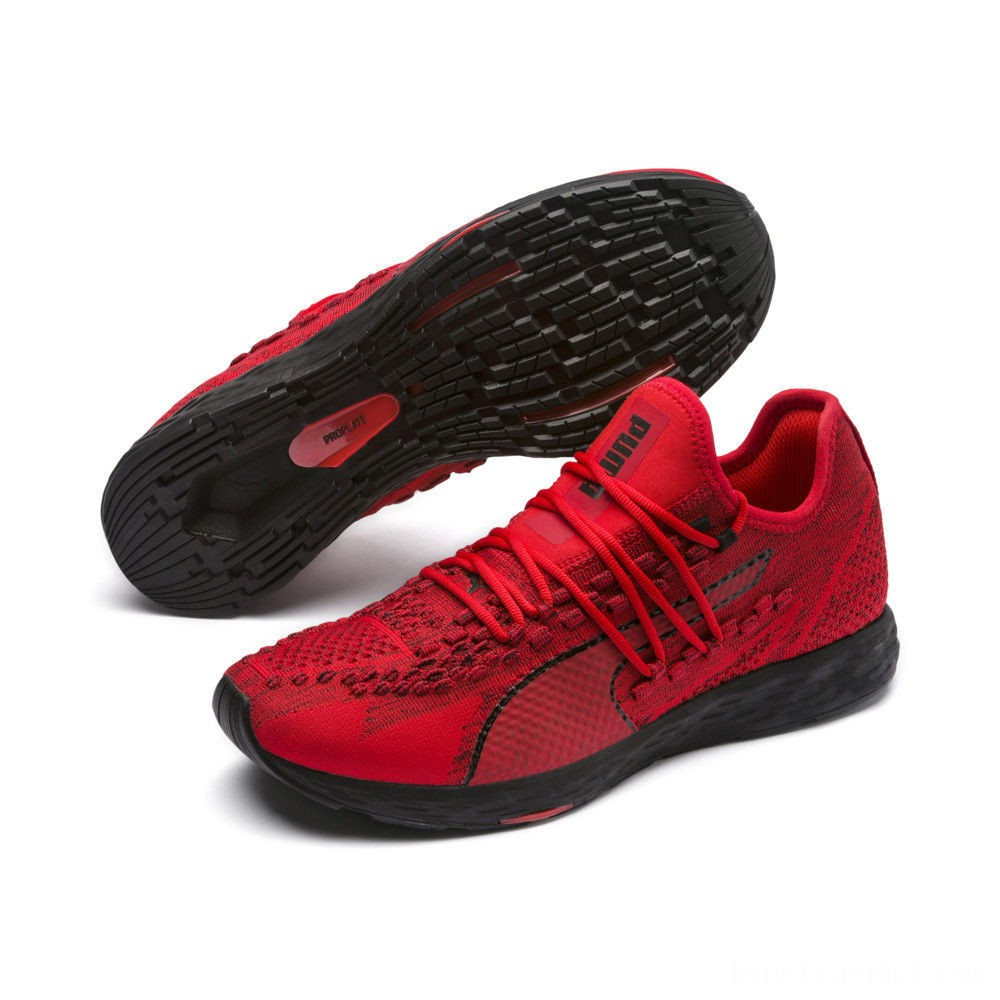 Puma SPEED RACER Men's Running Shoes High Risk Red-Black Sales
