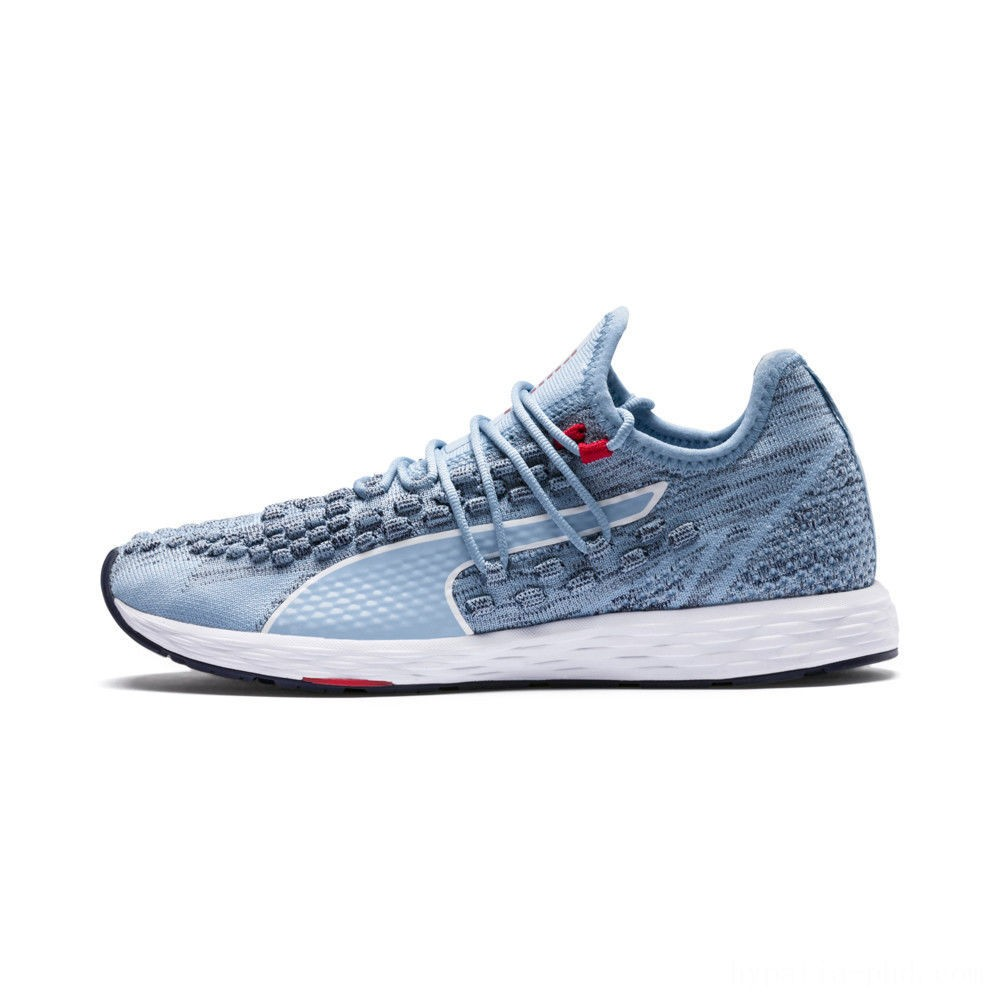 Puma SPEED RACER Women's Running Shoes CERULEAN-Peacoat-Ribbon Red Sales