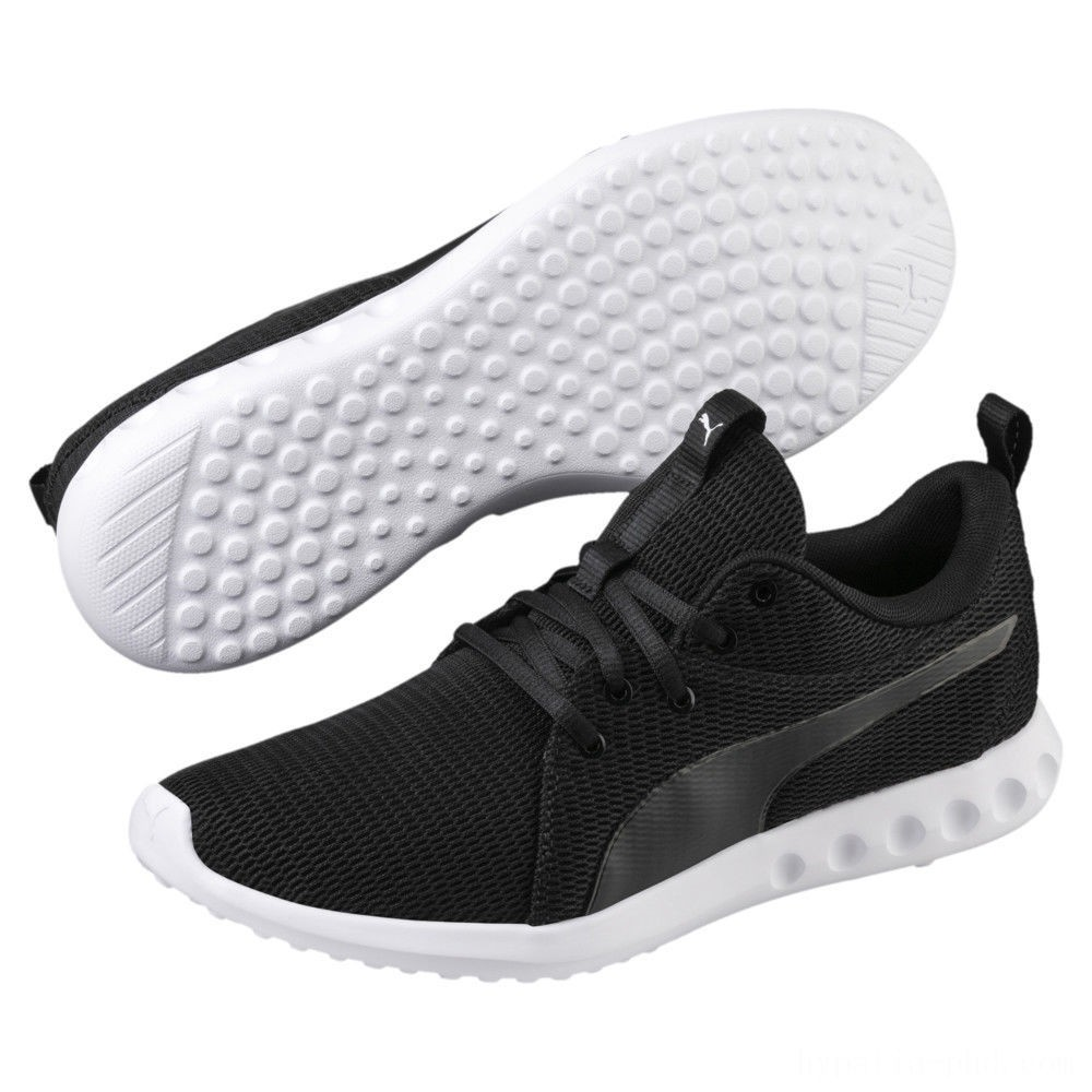 Puma Carson 2 New Core Men's Running Shoes Black- White Sales