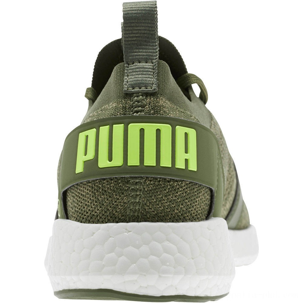 Puma NRGY Neko Engineer Knit Men's Running Shoes Olivine-Elm-Fizzy Yellow Sales
