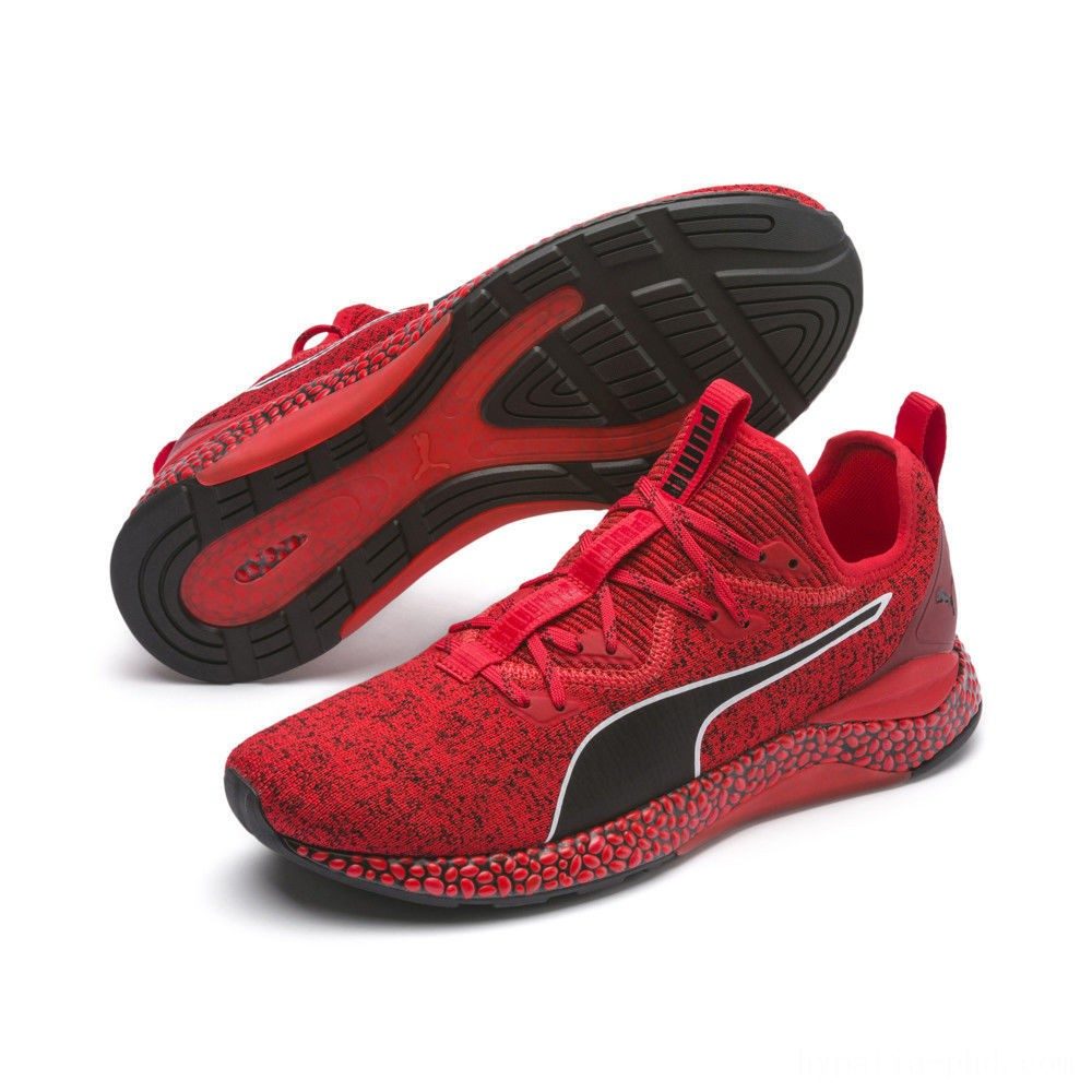Puma HYBRID Runner Men's Running Shoes High Risk Red- Black Sales
