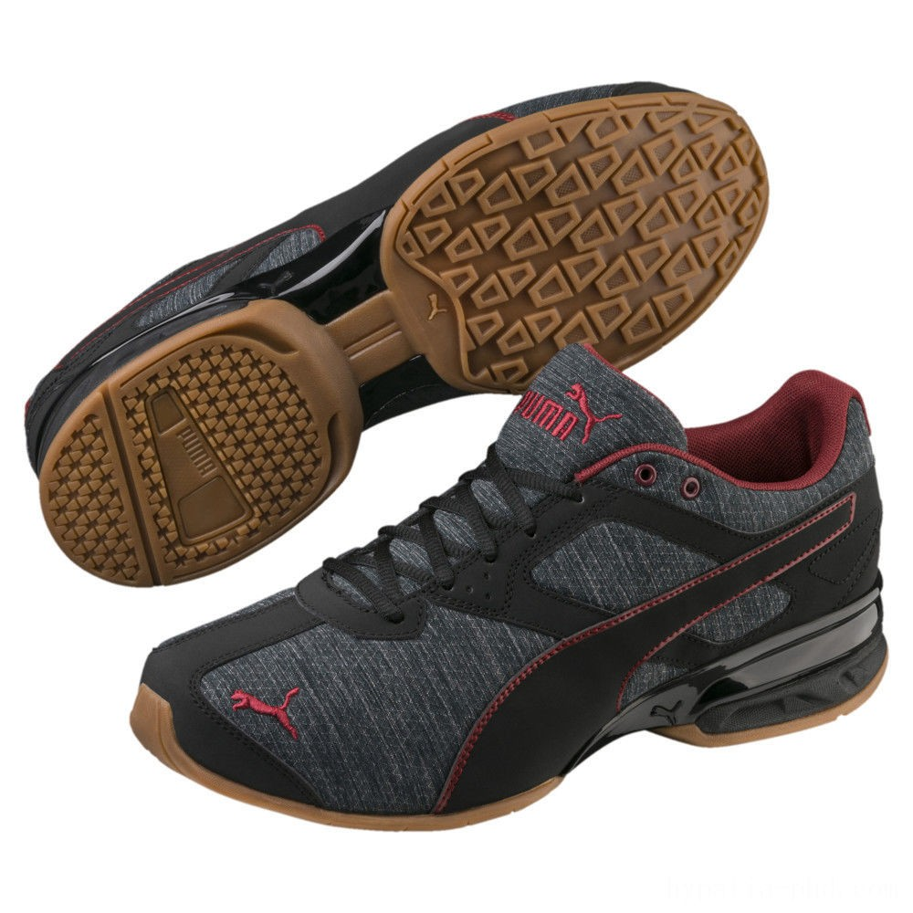 Puma Tazon 6 Heather Rip Men's Sneakers Iron Gate-Black-Pomegranate Sales