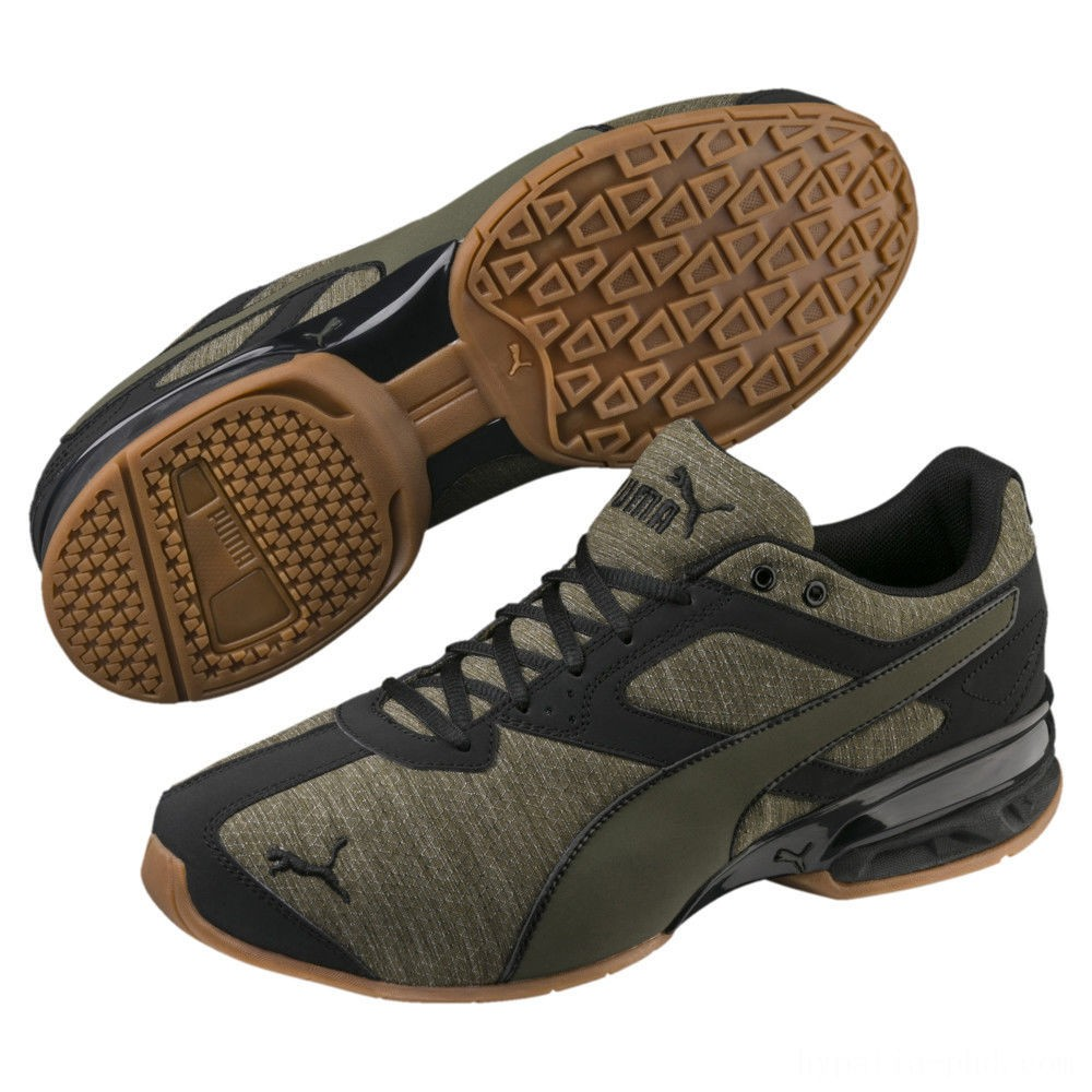 Puma Tazon 6 Heather Rip Men's Sneakers Forest Night- Black Sales