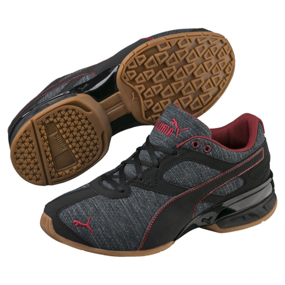 Puma Tazon 6 Heather Rip Sneakers PSIron Gate-Black-Pomegranate Sales