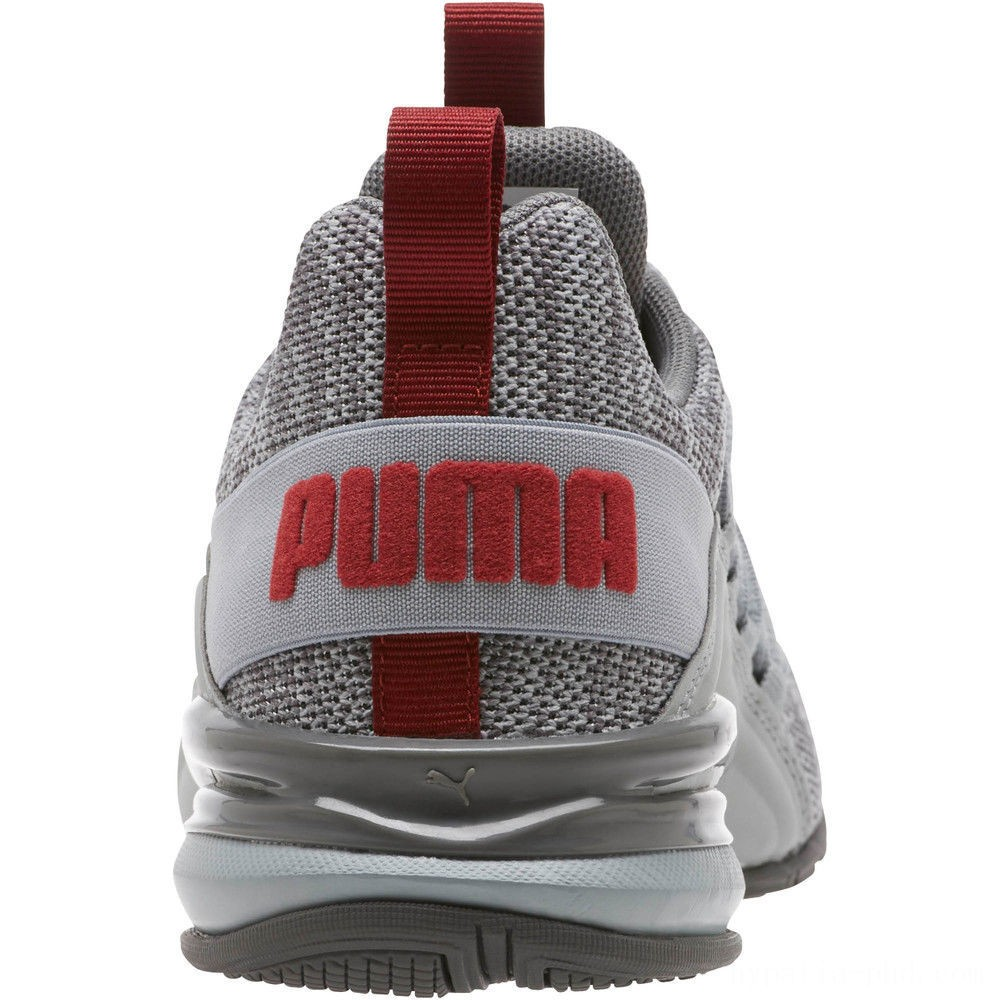 Puma Axelion Sneakers JRQuarry-Red Dahlia Sales