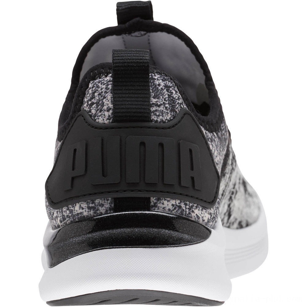 Puma IGNITE Flash Geo Women's Running Shoes Black- White Sales