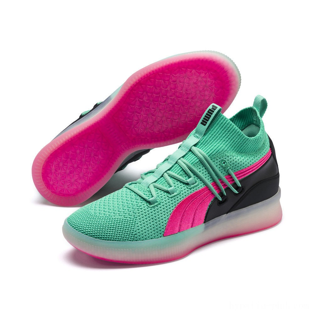 Puma Clyde Court Basketball Shoes Biscay Green Sales