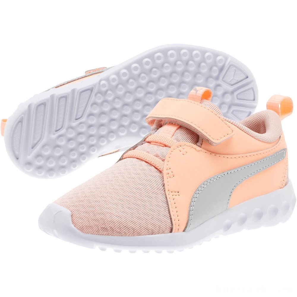 Puma Carson 2 Metallic AC Sneakers PSPeach Bud-Bright Peach-White Sales